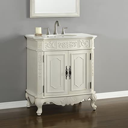 "Rutherford 33"" Single Vanity in Antique White - Rutherford 33"