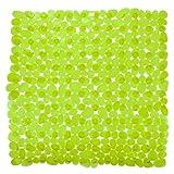 WENKO 20273100 Duscheinlage Paradise Green - Rutschstopp, Saugnäpfe, Kunststoff, Grün