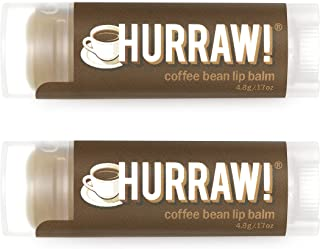 product image for Hurraw! Coffee Bean Lip Balm, 2 Pack: Organic, Certified Vegan, Cruelty and Gluten Free. Non-GMO, 100% Natural Ingredients. Bee, Shea, Soy and Palm Free. Made in USA