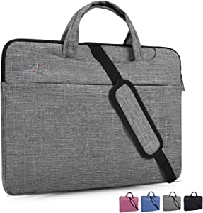15.6 Inch Laptop Sleeve Case Shoulder Bag Fit Acer Aspire E 15,Acer Chromebook 15,Acer Predator Helios 300,MSI GL62M/MSI GV62 15.6,ASUS VivoBook F510UA 15.6,LG Lenovo Dell HP 15.6 inch Laptop Bag,Gray