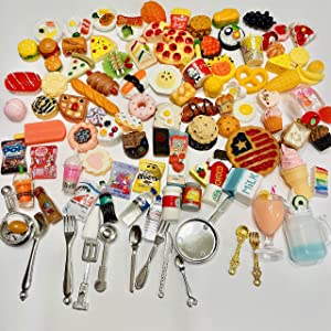 3 Girls and A Poodle 108 Piece Set Miniature Dollhouse Mini Food Drink Stuff (Layla's Littles)