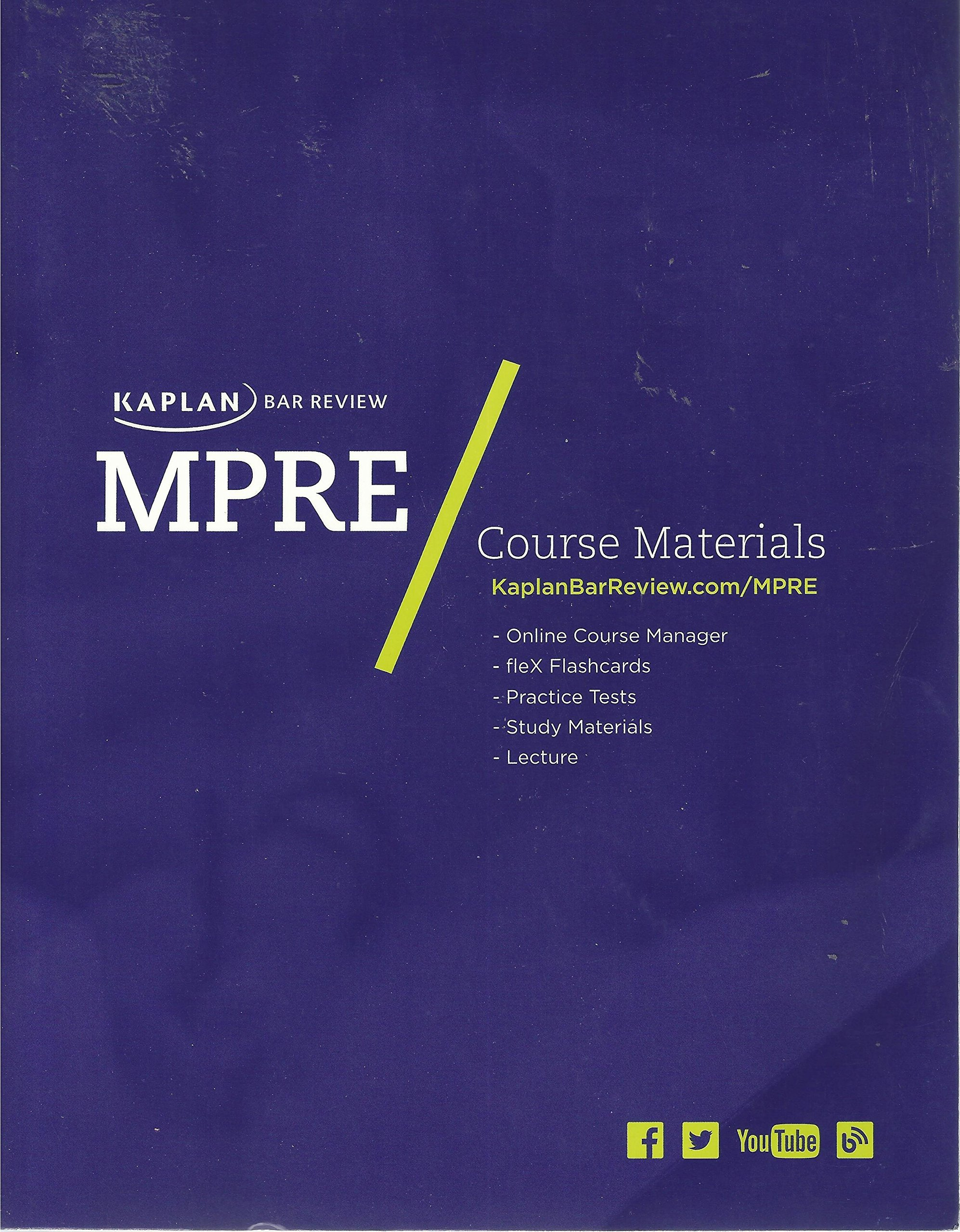 Read Online Kaplan Bar Review, MPRE (Multistate Professional Responsibility Examination) (2013) pdf
