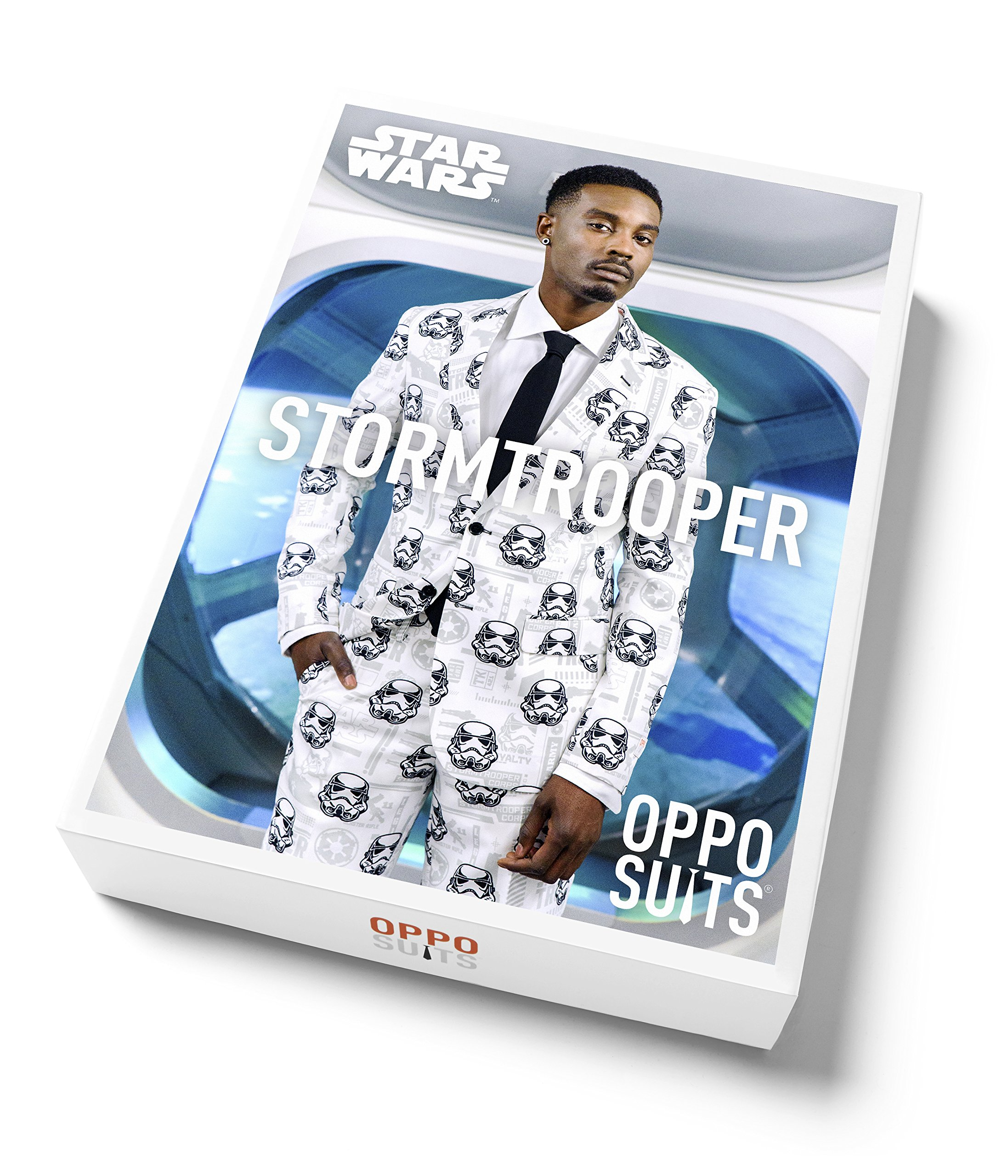 OppoSuits Mens 'Stormtrooper' Party Suit and Tie by, 38 by Opposuits (Image #7)