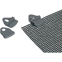 Bo-Camp 4217000 - Tarp clips, 4 units, grijs