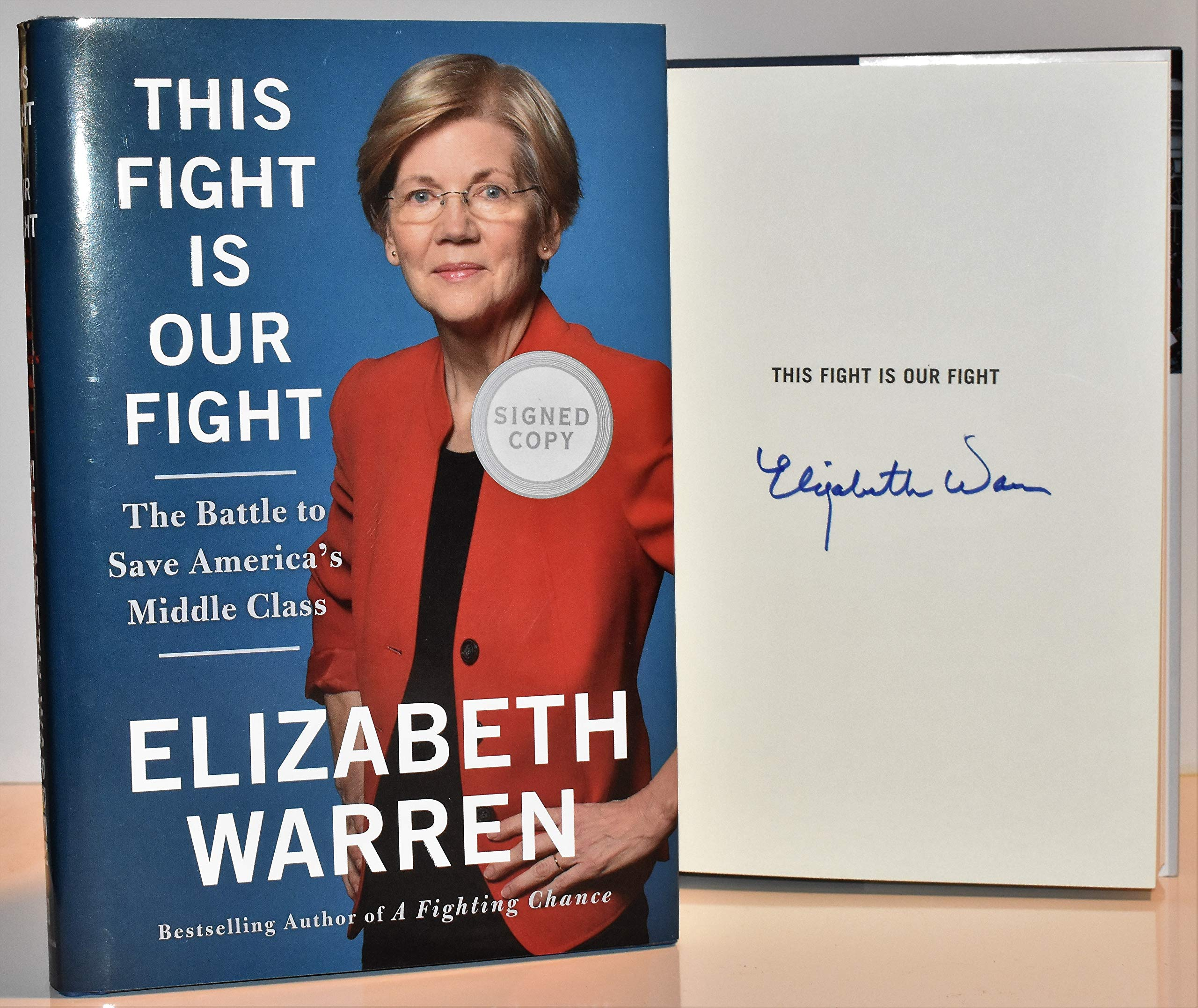 This Fight Is Our Fight AUTOGRAPHED Elizabeth Warren...