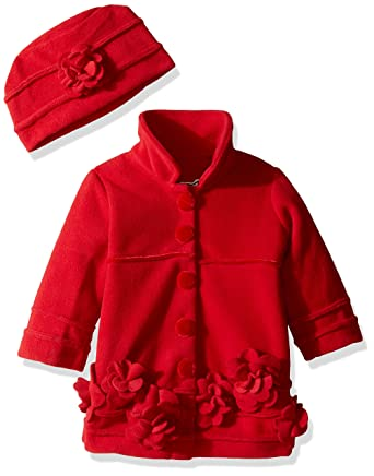 99d710eec Amazon.com  Widgeon Baby Girls  Flower Coat with Velvet Accent and ...