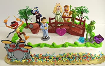 Wondrous The Muppets 14 Piece Birthday Cake Topper Set Featuring Kermit The Funny Birthday Cards Online Sheoxdamsfinfo