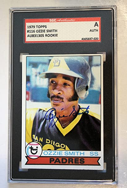 Autographed Ozzie Smith 1979 Topps San Diego Padres Rookie