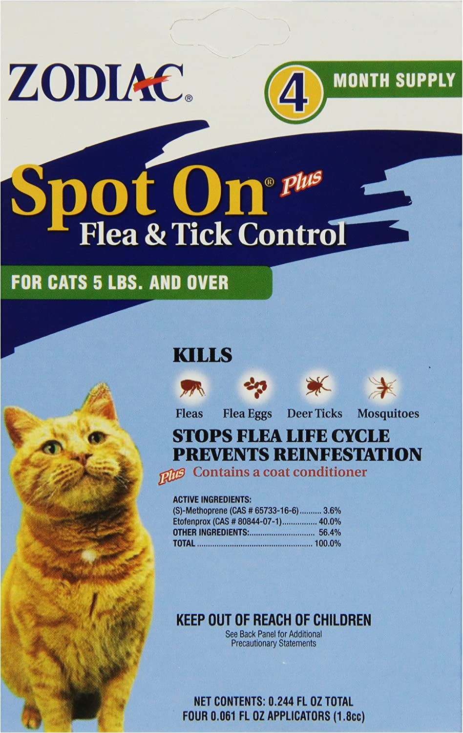 B000HCLK1E Zodiac Spot On for Cats and Kittens 91UsnFJbZiL