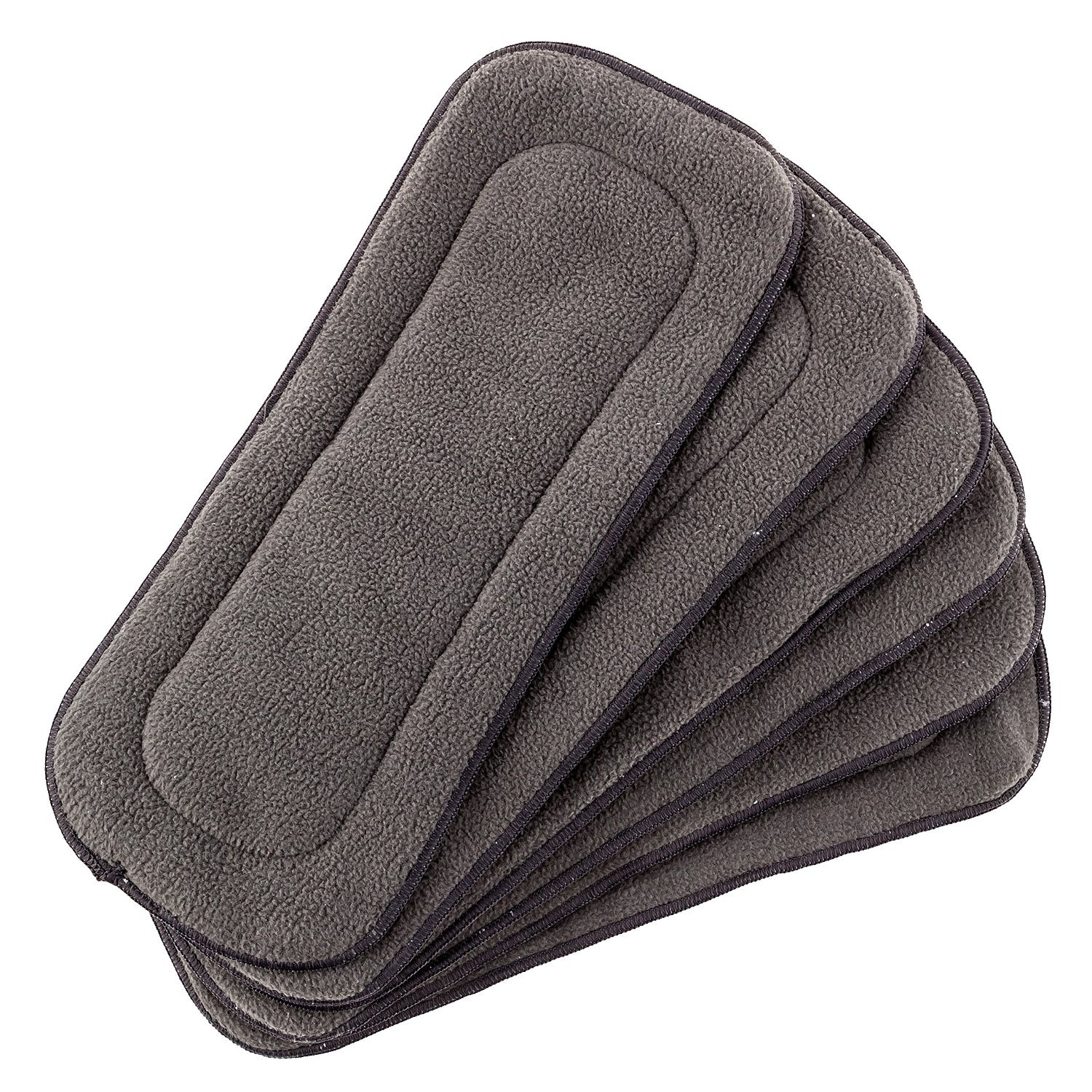 love my Baby 5 Layer Charcoal Bamboo Inserts Reusable Liners for Cloth Diapers Inserts 6 pieces by love my (Image #4)