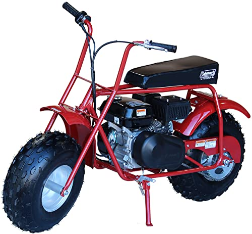 Coleman Powersports Gas Powered Mini Trail Bike Scooter for Adults and Kids