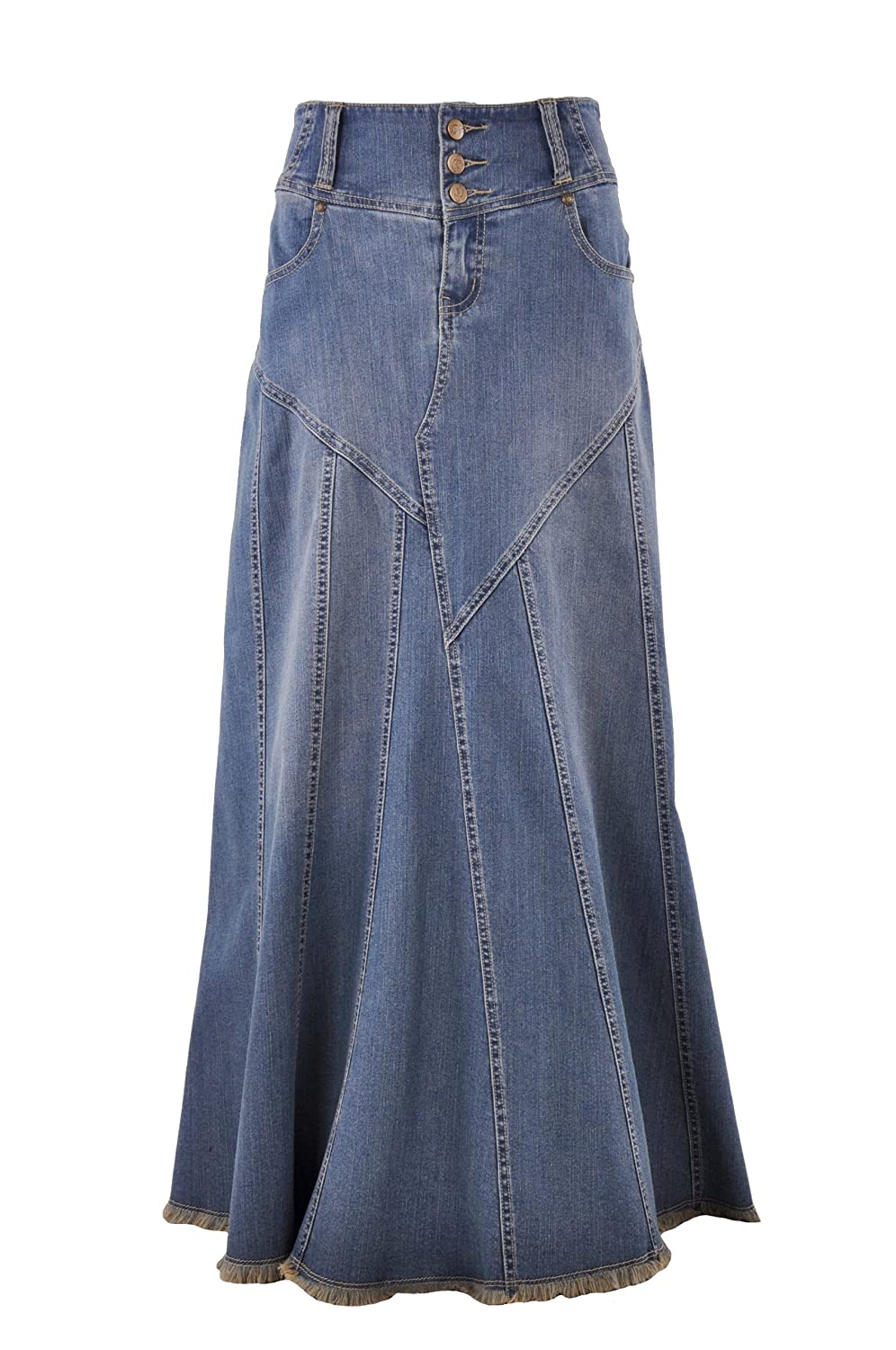Style J Fantastic Flared Long Jean Skirt At Amazon Women S Clothing