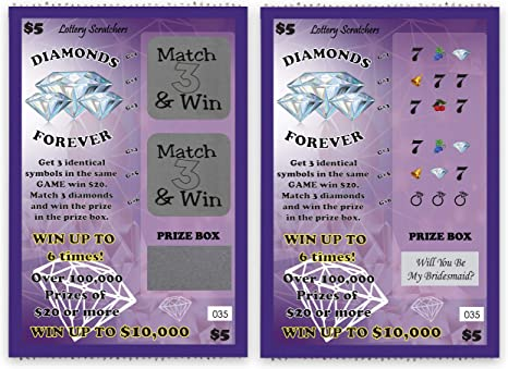 Engagement Reveal Scratch Off Card Set of 2 Match 3