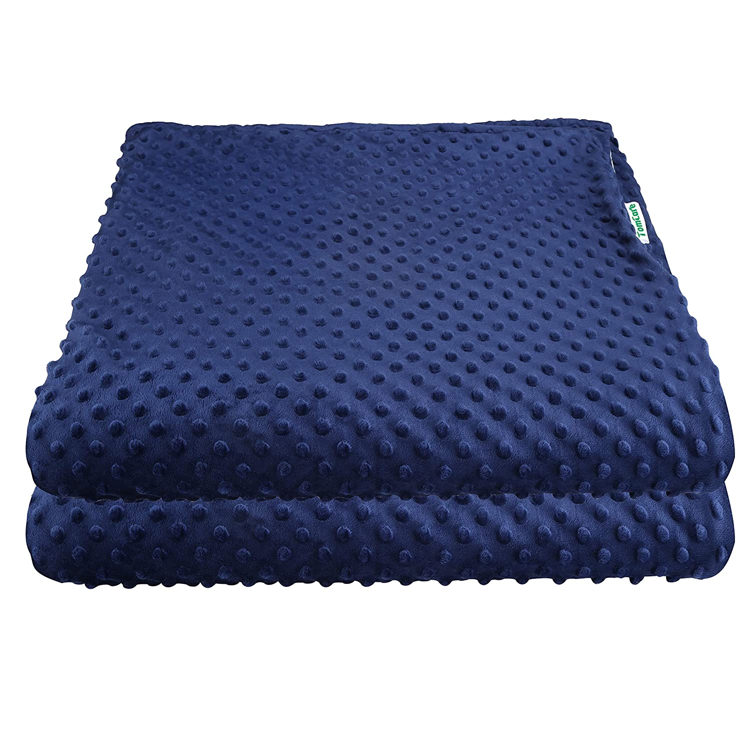 TomCare Duvet Cover for Weighted Blankets Bedding Blanket Cover Weighted Blanket Cover Removable Soft Minky Dot Style Very Easy to Care Navy Blue(60'x80' Duvet Cover ONLY)