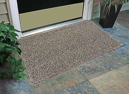 Grassworx Clean Machine Flair Doormat 24 X 36 Earth Taupe 10372034 Furniture Decor