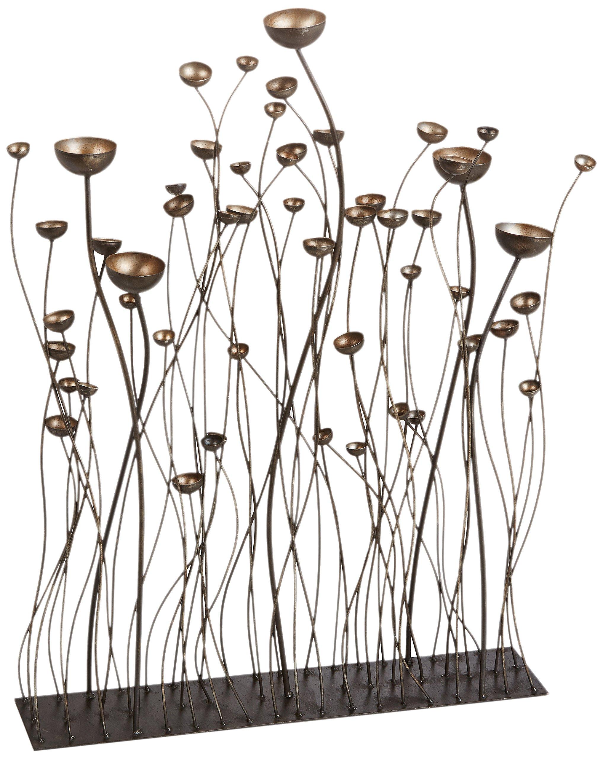 Design Toscano Prairie Grasses Metal Sculpture, Bronze