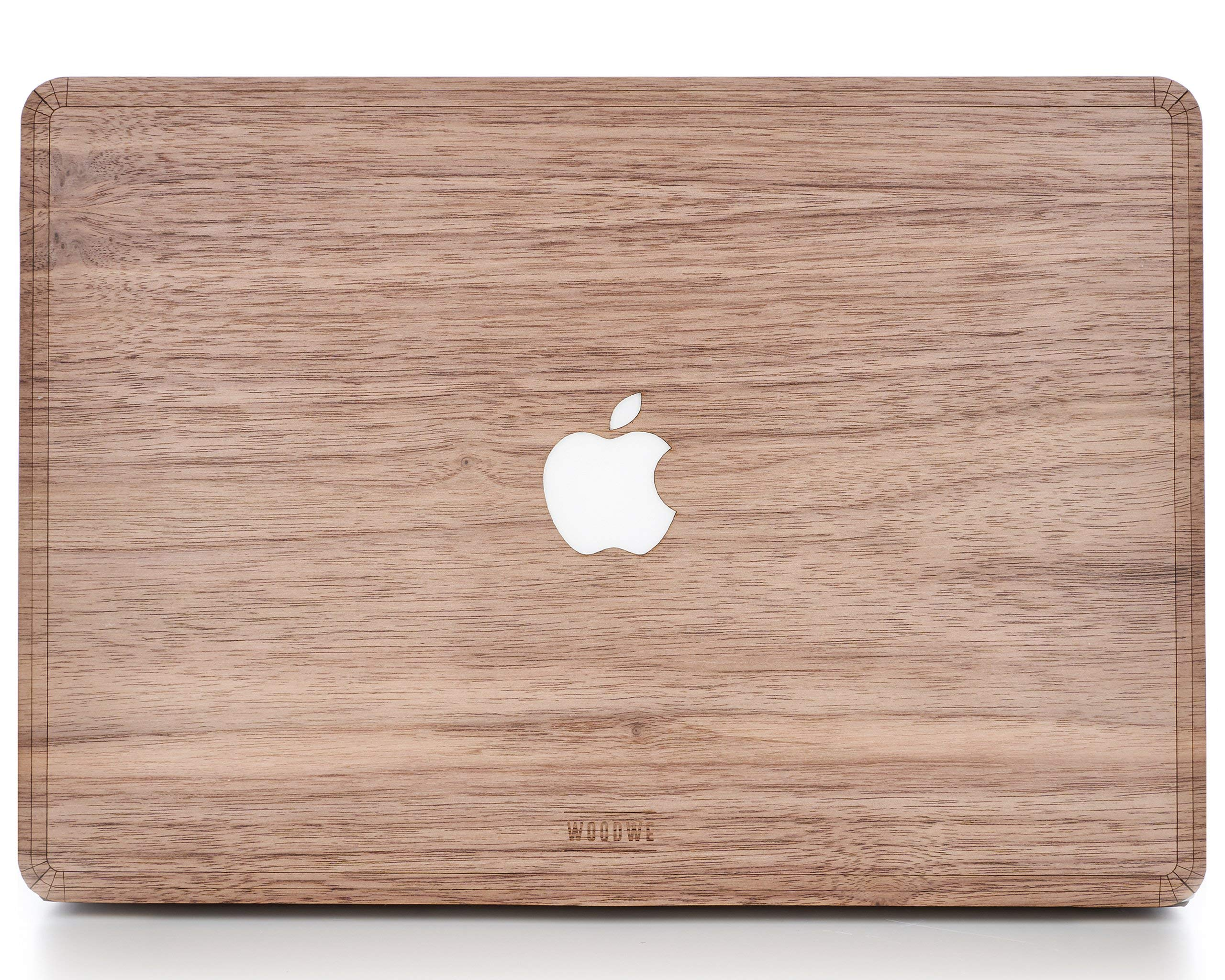 WOODWE Real Wood MacBook Skin for Mac Air 13 inch Non Retina Display | Model: A1237/A1304/A1369/A1466; Early 2008 - Mid 2017 | Natural Walnut | TOP&Bottom