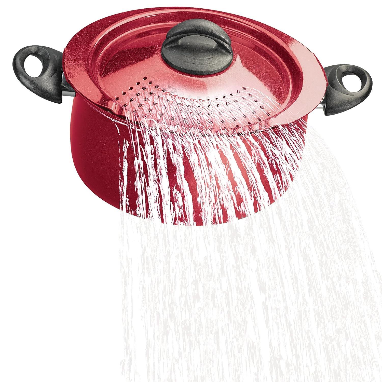 Bialetti 07256 Oval 5 Quart Pasta Pot with Strainer Lid Purple