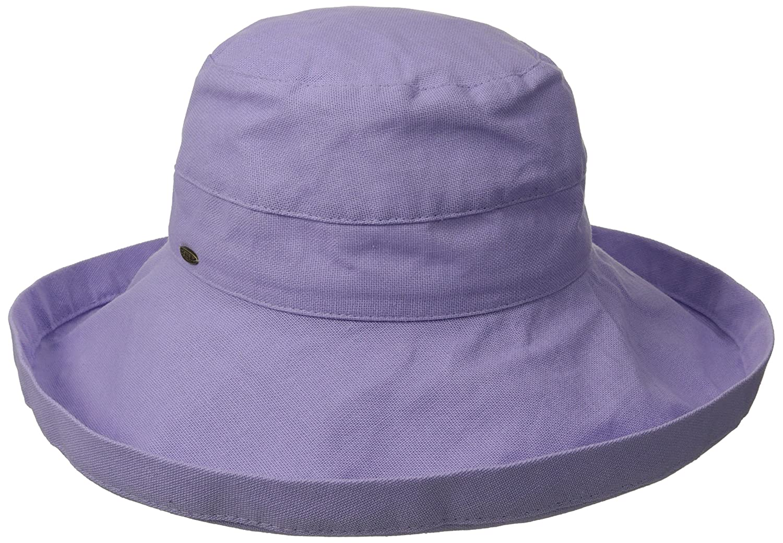 e7fe7493 Scala Womens Cotton Big Brim Bucket Hat w/Inner Drawstring (Lavender):  Amazon.in: Sports, Fitness & Outdoors