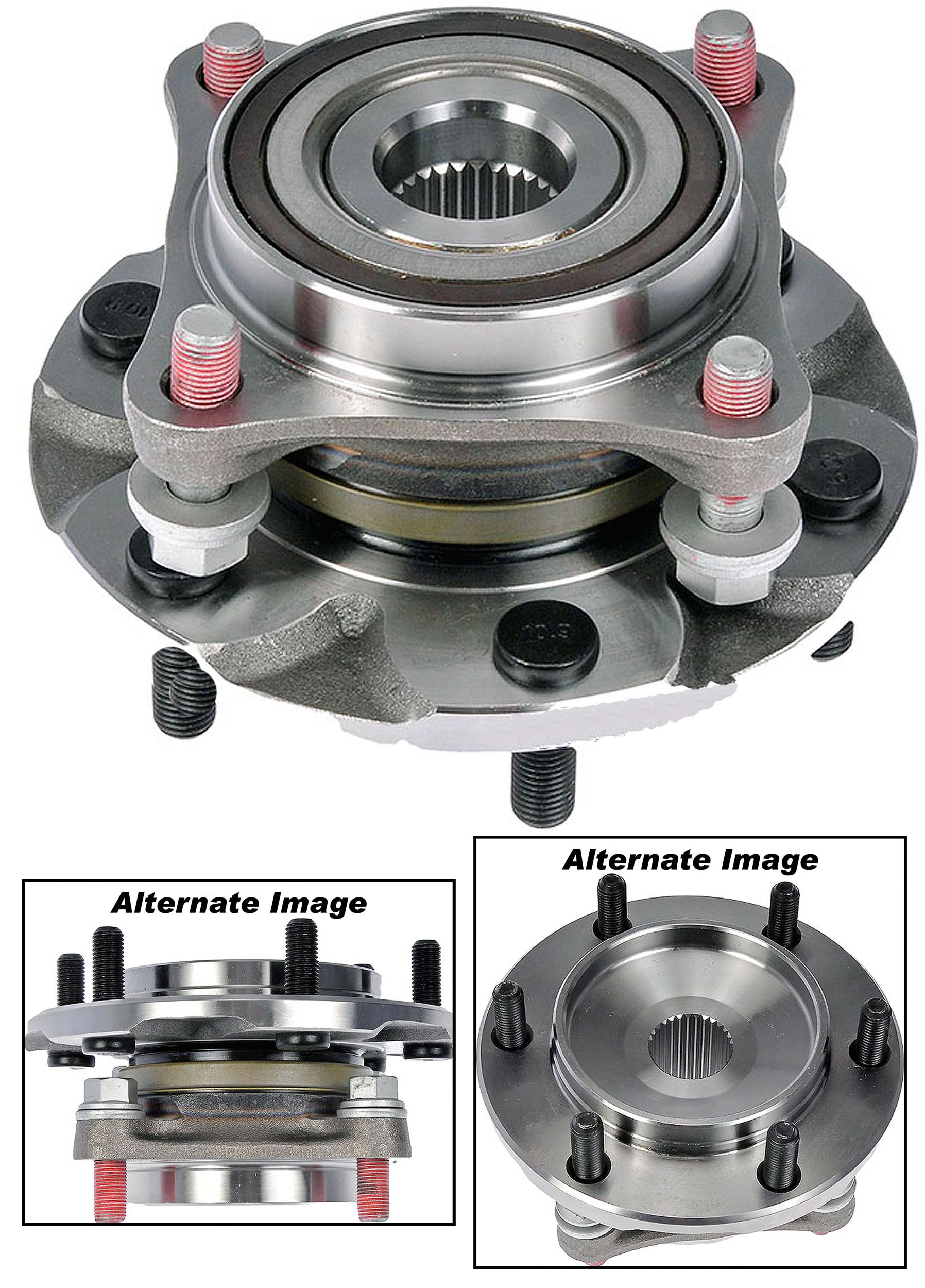 APDTY 515040 Wheel Hub Bearing Bolt On Assembly w/ Studs Fits Front Left or Right 2010-2014 Lexus GX460 2003-2009 GX470 2003-2013 4Runner 2007-2013 FJ Cruiser 2005-2012 Tacoma (AWD 4WD Models Only)