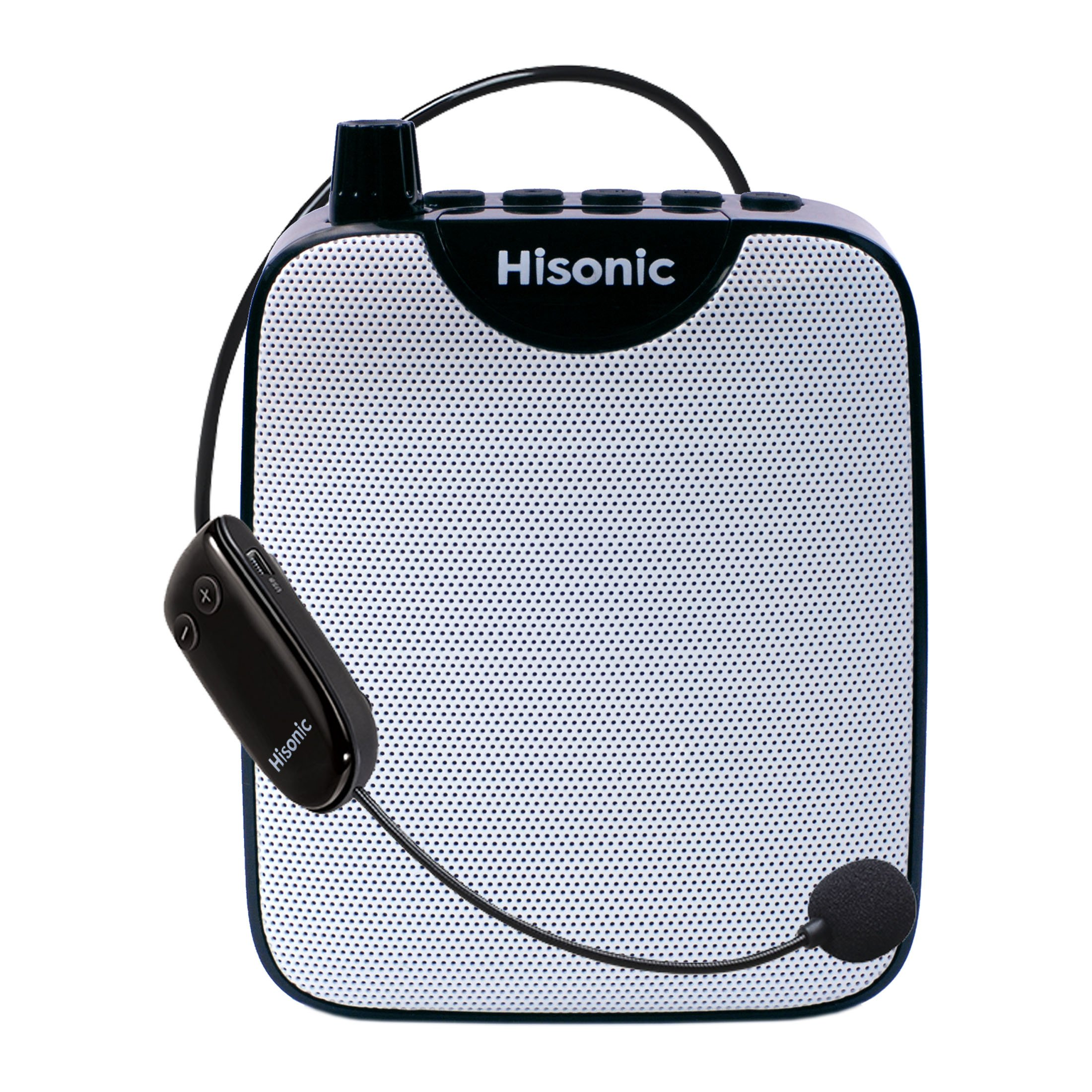 Hisonic HS388U Waistband Voice Amplifier: 3-in-1 Mini Portable PA System with UHF Wireless Headset Microphone + Portable Speaker + Digital Voice Recorder (10 Watts)
