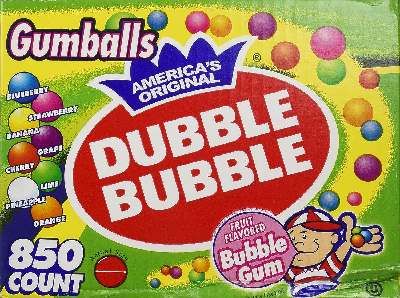 Dubble Bubble-Gumballs 1 in Diameter Variety Pack, 850 Gumballs DUB-BUB-17