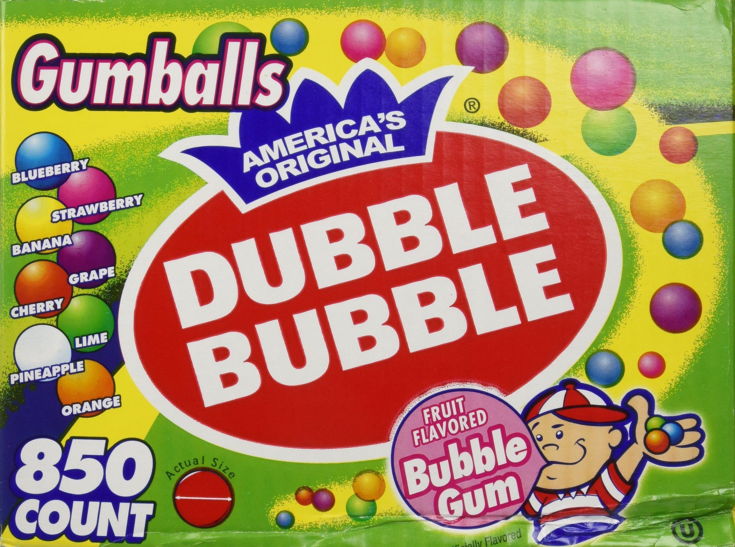 Dubble Bubble-Gumballs 1'' in Diameter Variety Pack, 850 Gumballs by Dubble Bubble