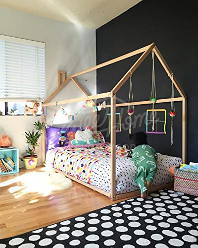 Amazon.com: Toddler bed, House shaped bed, nursery wood house bed ...