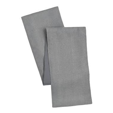 Cotton Craft - Solid Color Jute Table Runner 13x72 - Charcoal - Perfect Accessory to Dress Up Your Dinner Table - Made from 100% Jute - Spot Clean Only