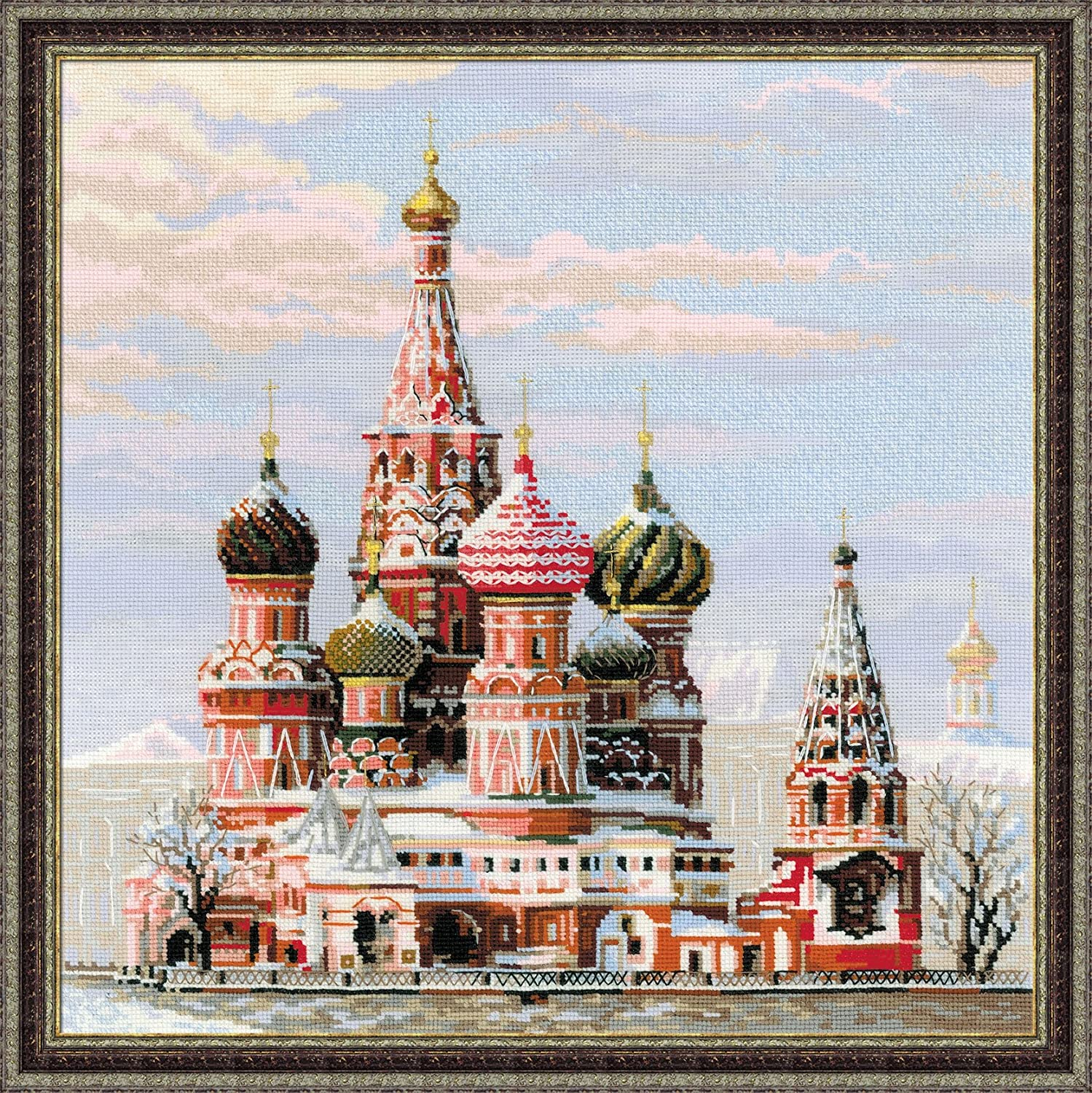 13.5 x 14.5 Thea Gouverneur 18 Count St Basils Cathedral Moscow on Aida Counted Cross Stitch Ki