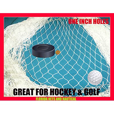 10 X 25 Fishing Net, Netting, Fish Net for Golf Backstop, Hockey, La Crosse, Barrier, Sports