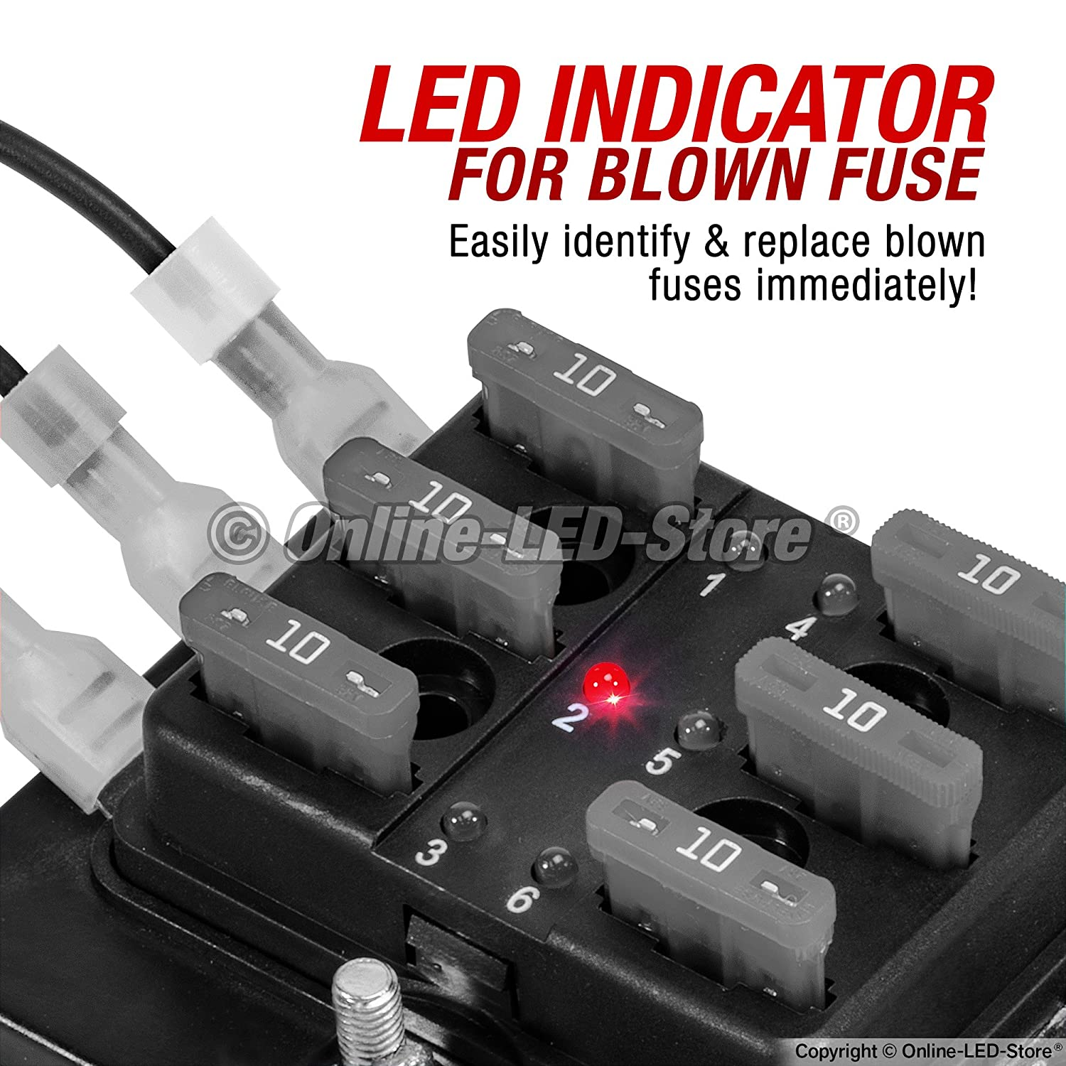 91UtBRj2meL._SL1500_ amazon com ols 6 way blade fuse box [led indicator for blown fuse blown fuse in breaker box at aneh.co