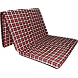 "Sleepinns Three Fold Single Bed Size 2.2 Inches Epe Foam (72"" X 35"" X 2.2"", Checkered)"
