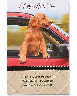 Amazon Com Happy Birthday Dad W Golden Retriever Dogs Greeting