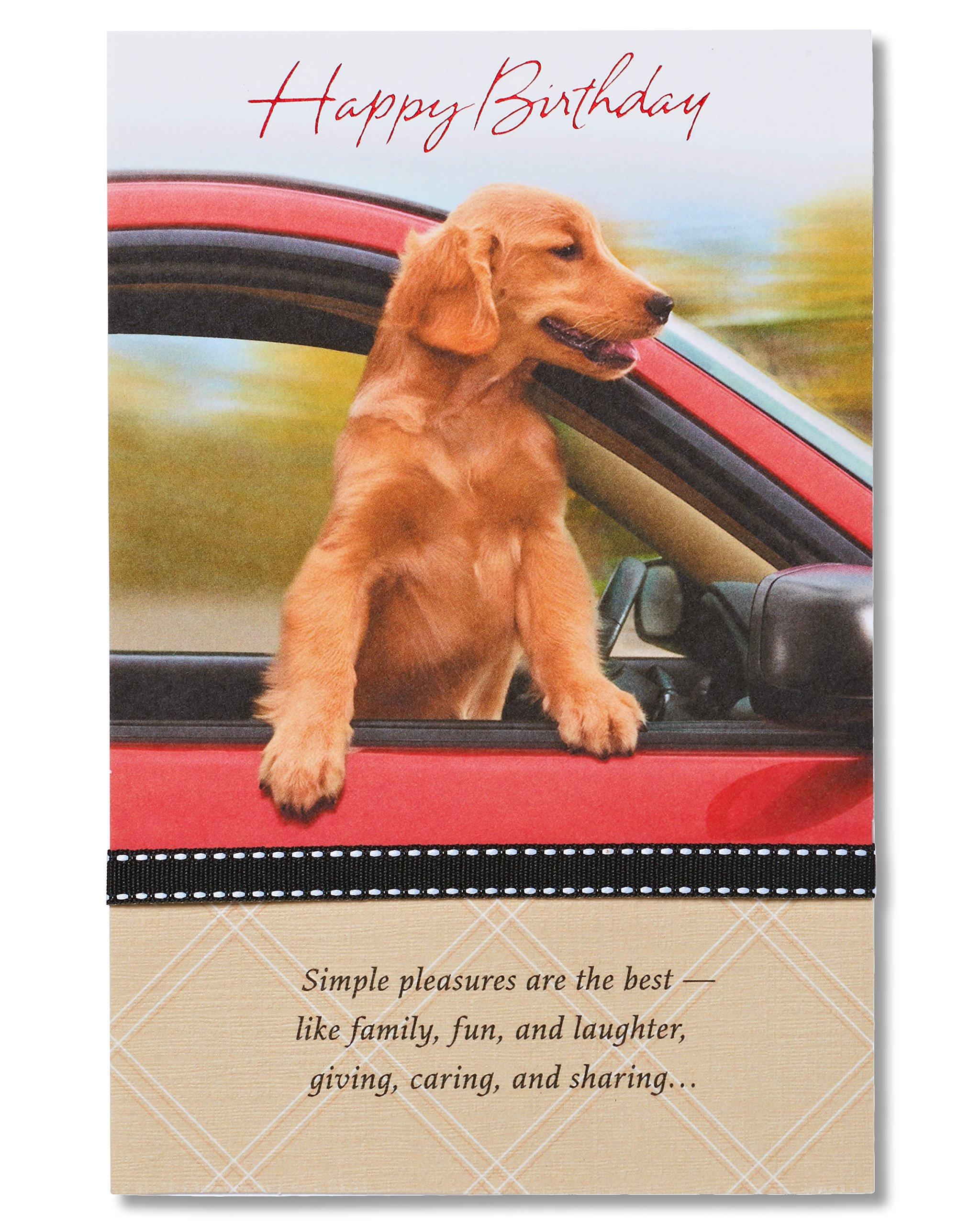 Amazon Golden Retriever Puppy Die Cut Dog Birthday Card By