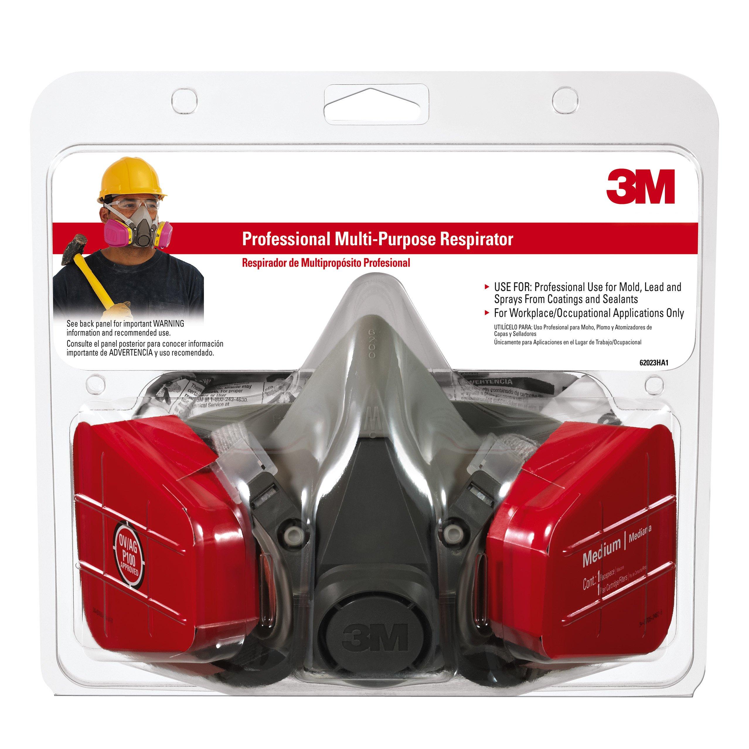3M 62023HA1-C Professional Multi-Purpose Respirator, Medium by 3M