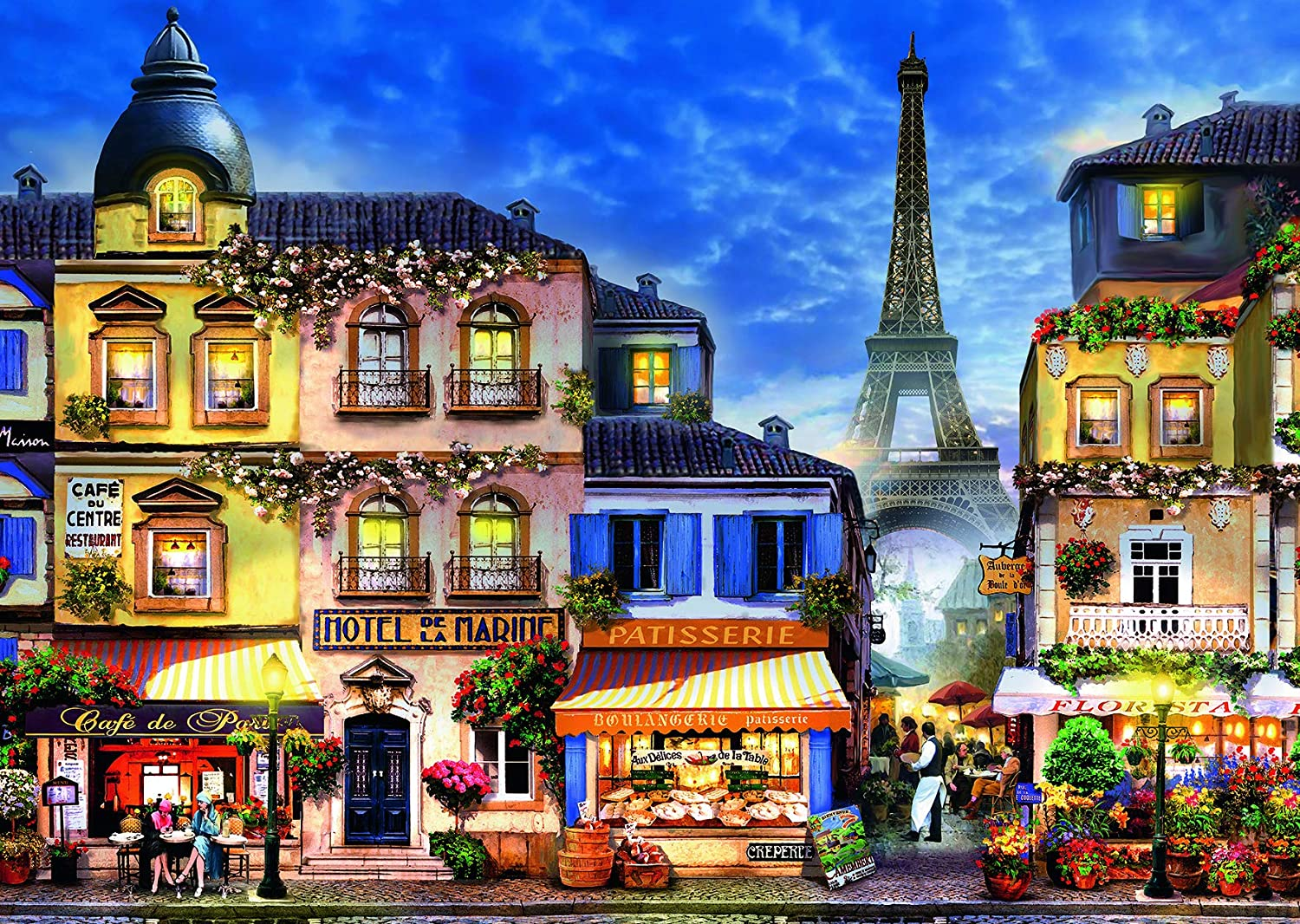 Ravensburger Pretty Paris Large Format 300 Piece Jigsaw Puzzle for Adults – Every Piece is Unique, Softclick Technology Means Pieces Fit Together Perfectly