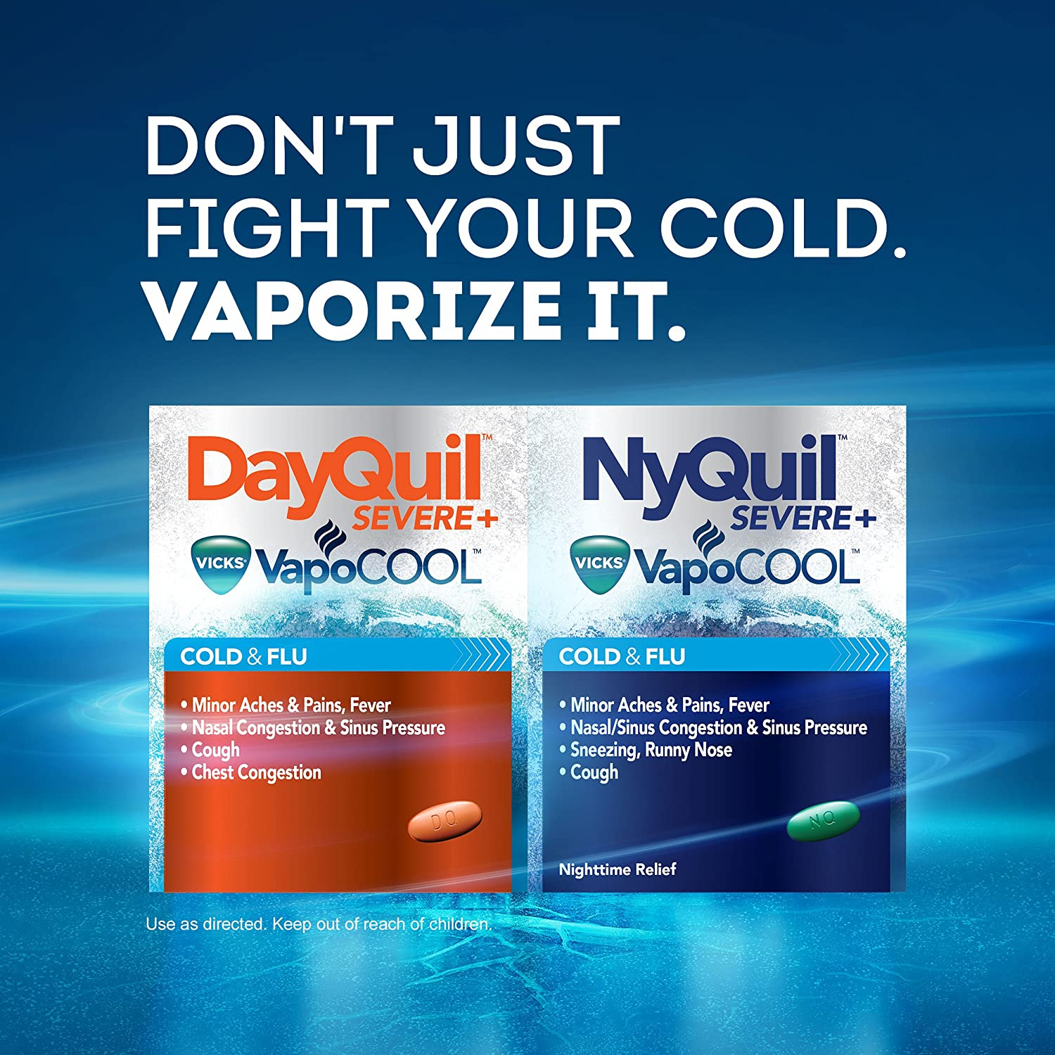 amazon com dayquil and nyquil severe with vicks vapocool cough