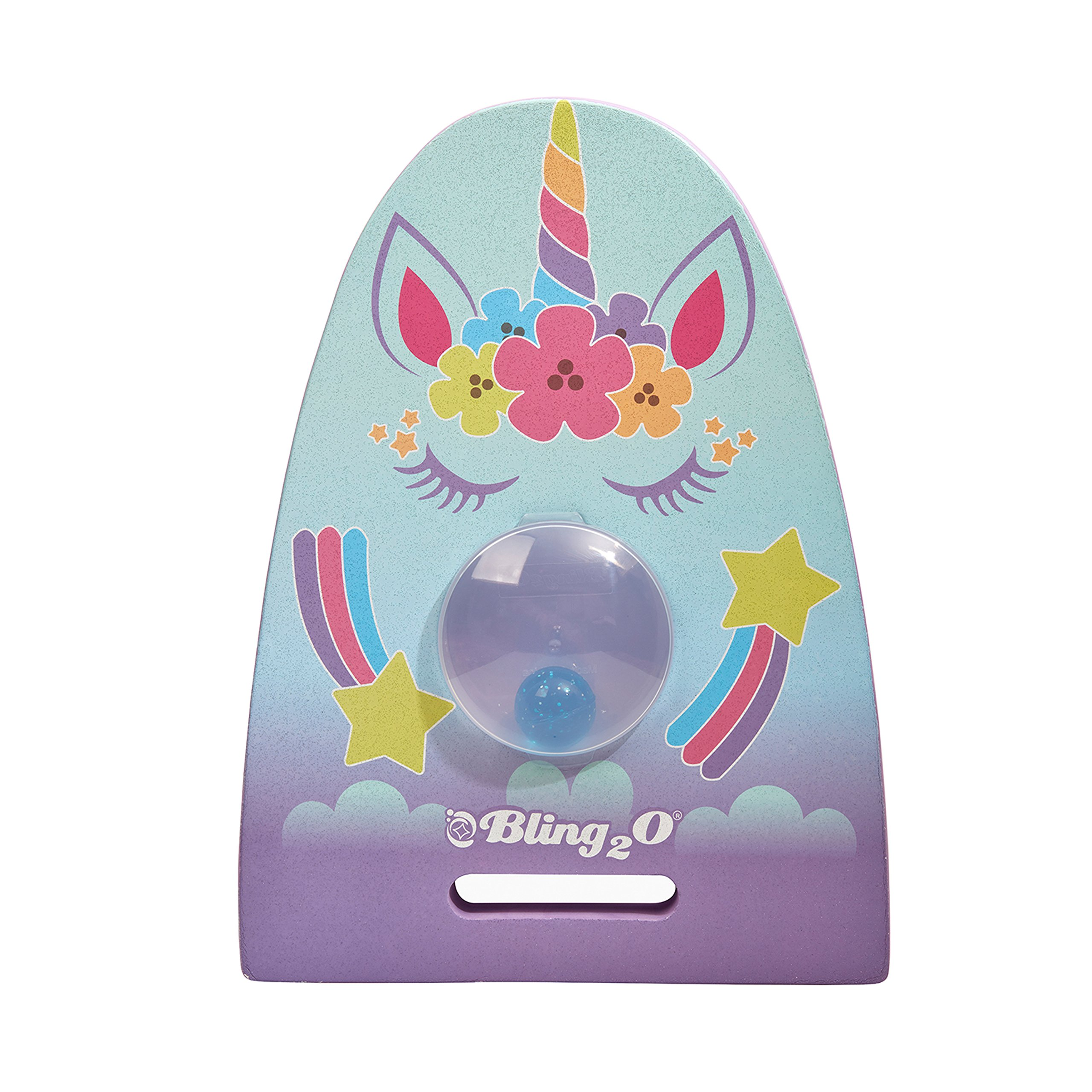 Unicorn Kickboard for Kids by Bling2O Includes Bonus Dive Toy - Great for Swim Lessons (Glitter Girl)