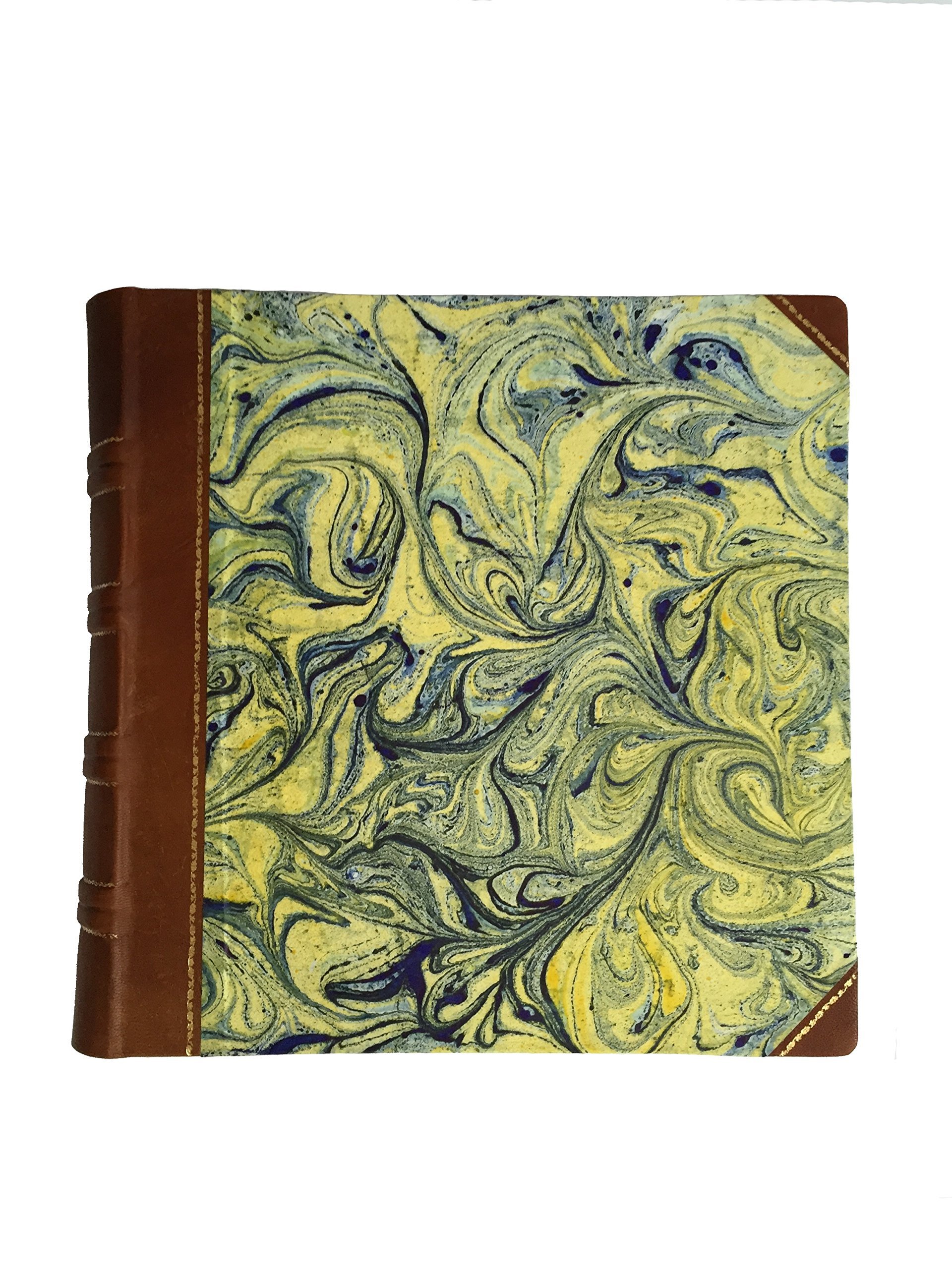 Legatoria De Pasquale - Hand-Crafted Leather Photo Album Decorated with Gold and Medieval-Style Paper