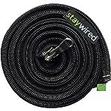 Cache câble Staywired® avec fermeture éclair, longueur 80cm, noir, cache fil design qui peut contenir jusqu'à 10 câbles