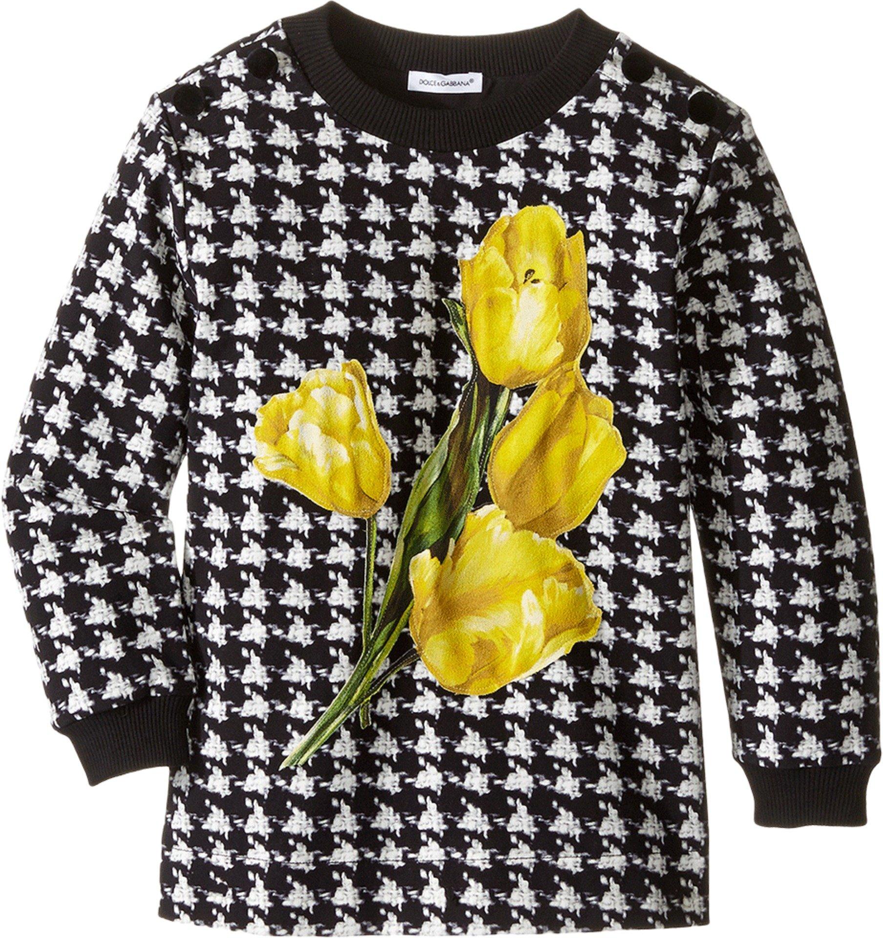 Dolce & Gabbana Kids Baby Girl's City Houndstooth Sweater (Toddler/Little Kids) Black/White Print Sweater