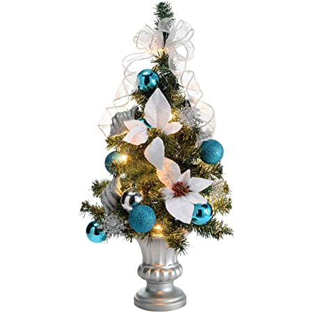 werchristmas pre lit decorated christmas tree table decoration 2 feet60 cm
