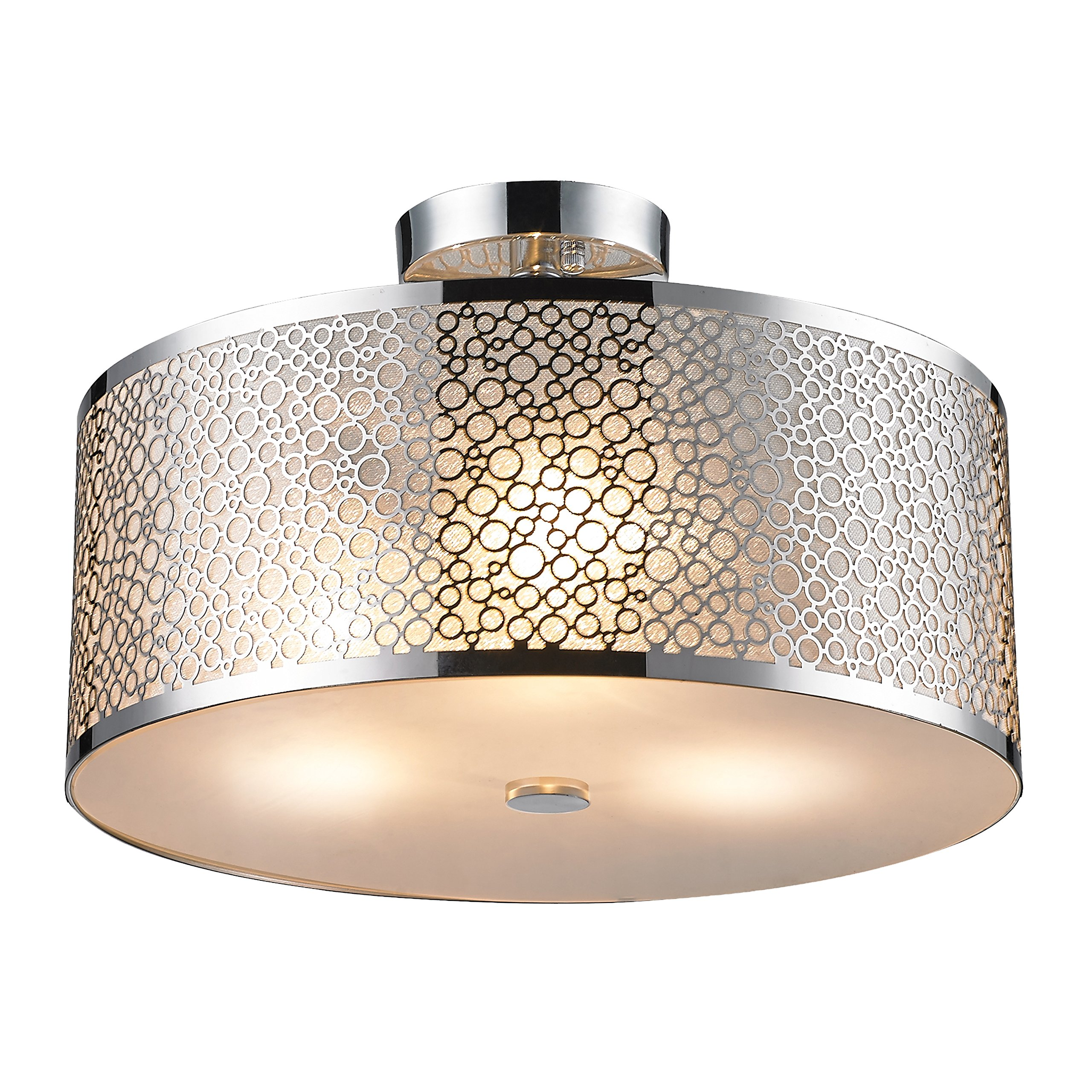 SereneLife Home Lighting Fixture - Semi Flush Mount Ceiling Accent Light with Elegant Sculpted Metal Lamp Shade (SLLMP416)