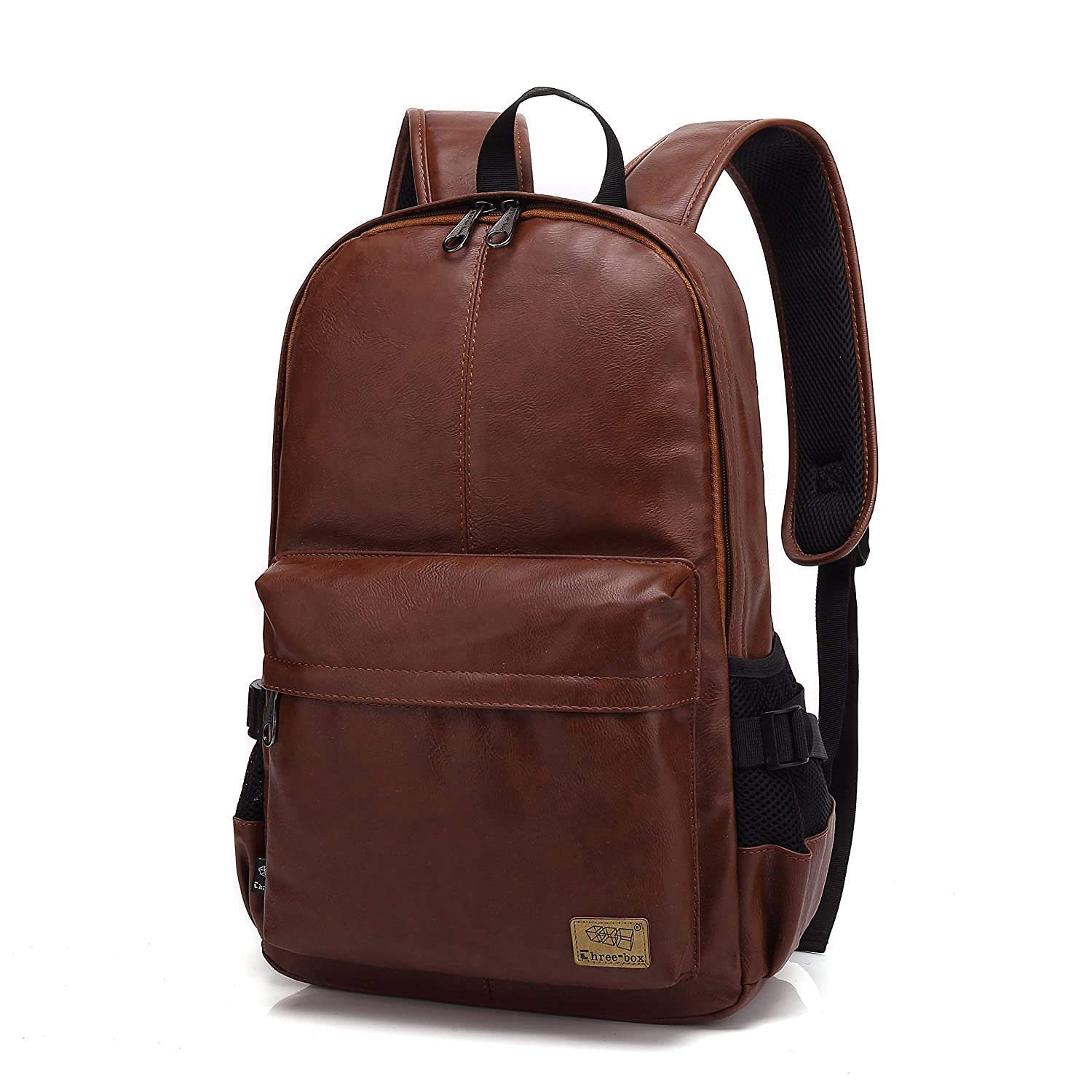 1dce676a4e5d Amazon.com  ZEBELLA Vintage PU Leather Laptop Backpack School Book Bag  College Daypack  Computers   Accessories
