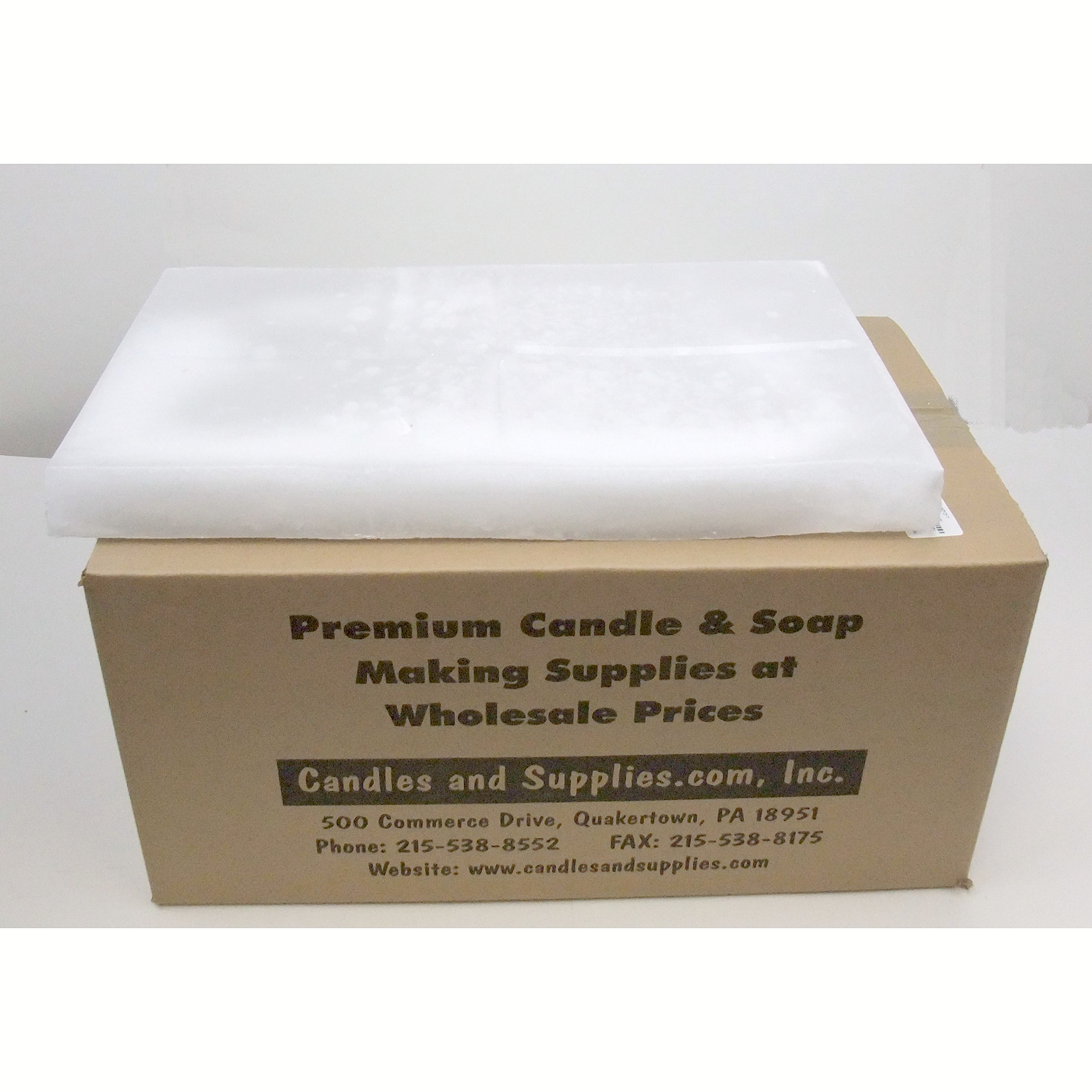 Pack of 1, 63 Lb. 130 Mp Paraffin Wax Perfect for Votives & Container Candles