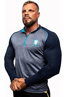 6fd620c2ad6a Urban Lifters Athlete Fit 1 4 Zip Long Sleeve Shirt. Performance top  perfect for Gym