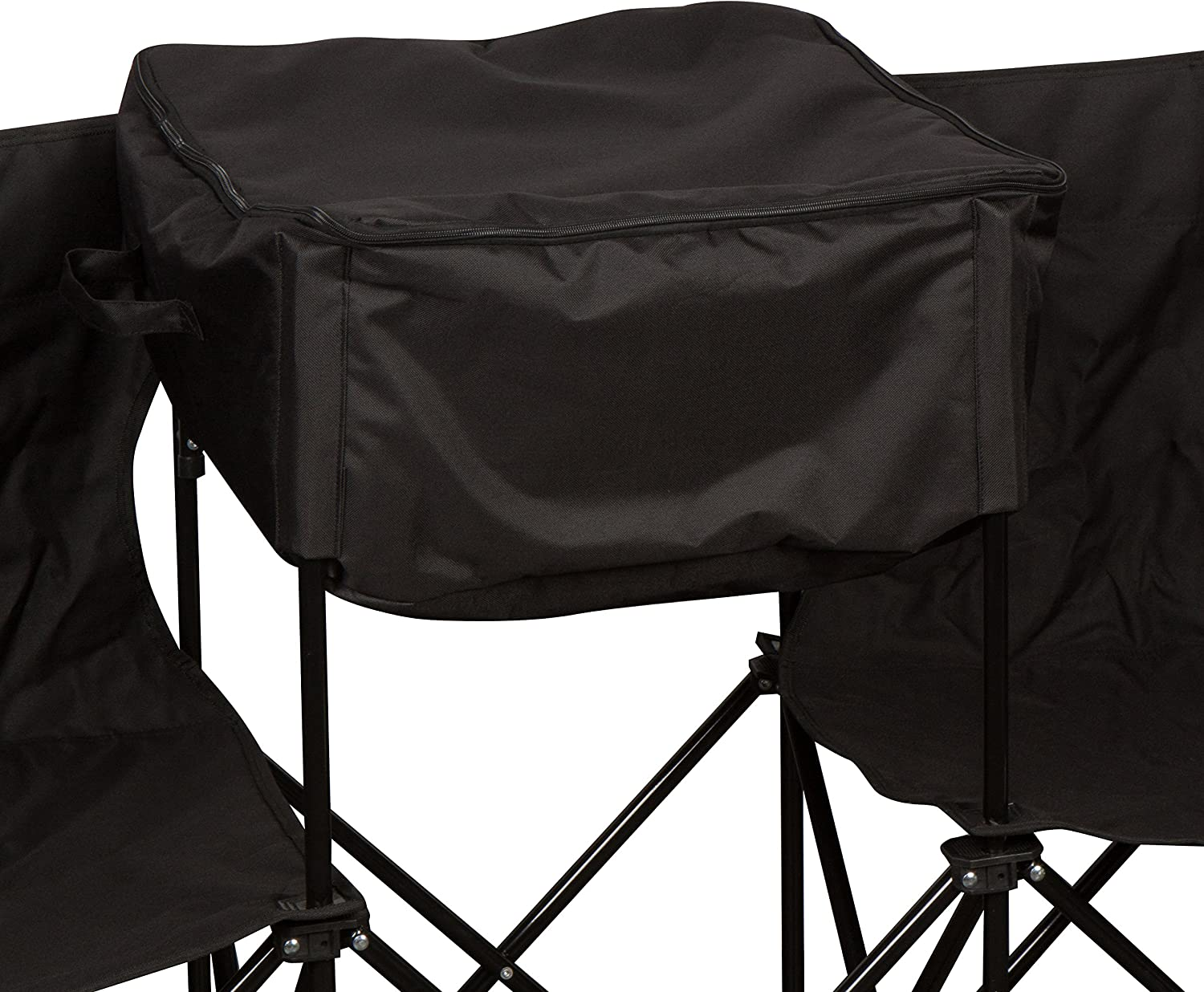 10 Portable Folding Team Sports Sideline Bench with Attached Cooler /& Full Back by Trademark Innovations