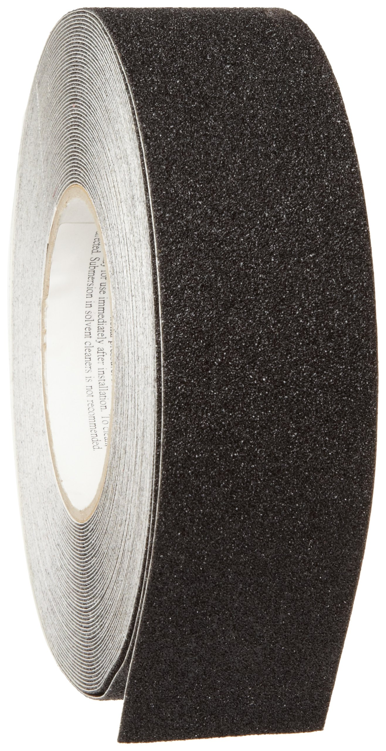 Brady 78190 60' Length, 2'' Width, B-916 Grit-Coated Polyester Tape, Black Color Anti-Skid Tape Roll Mounted