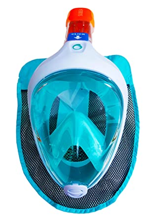 Original Tribord nueva subea EASYBREATH Snorkeling máscara buceo Turquise – Luz Azul Talla S-M (para